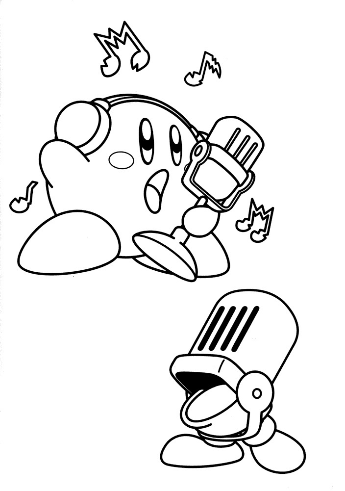 nintendo kirby coloring pages - photo#22