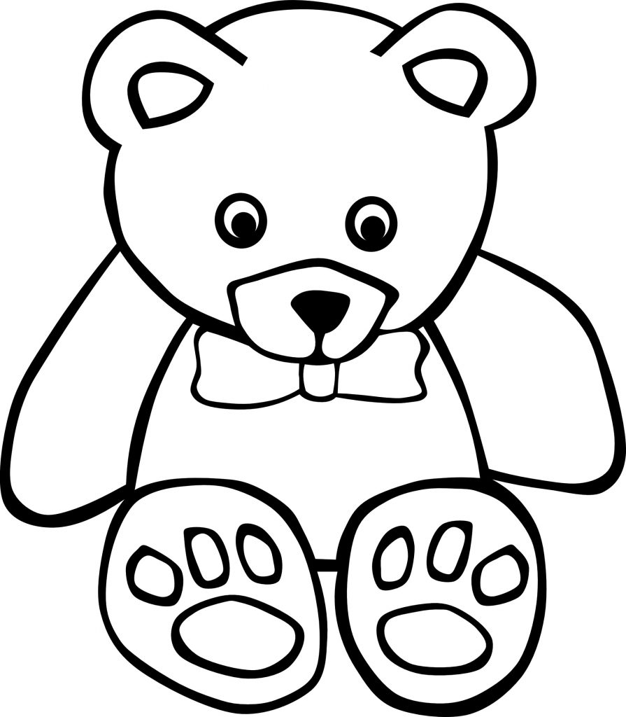 Free printable teddy bear coloring pages for kids - Free teddy bear pics ...