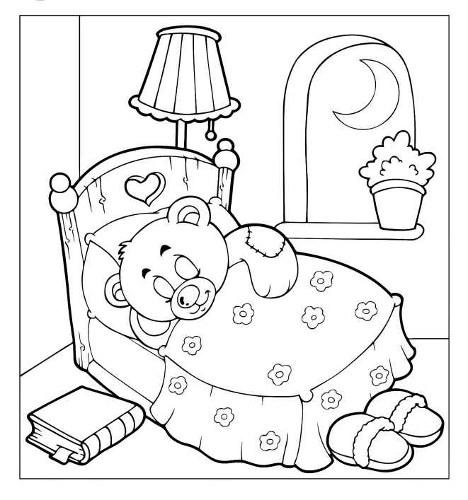 coloring page pages teddy bear - photo#28