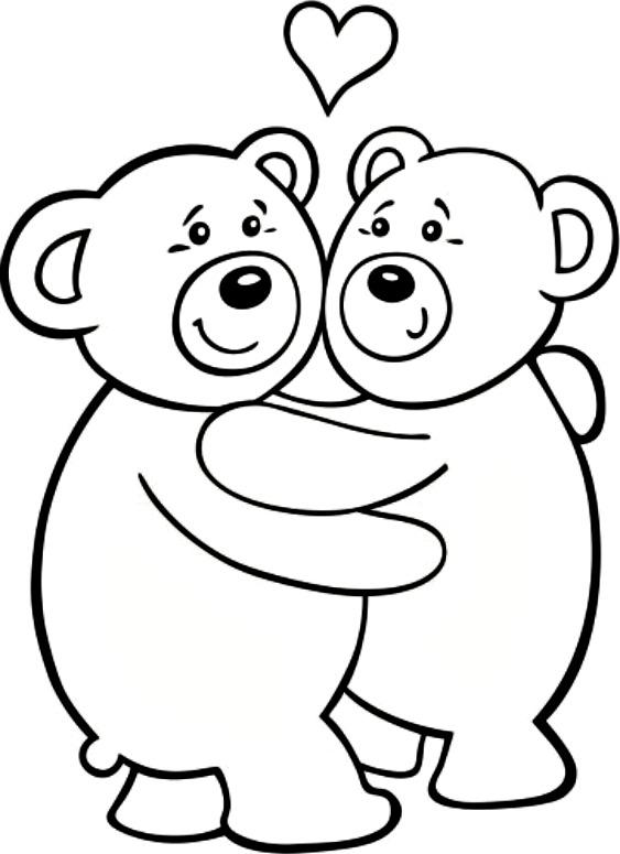 Free Printable Teddy Bear Coloring