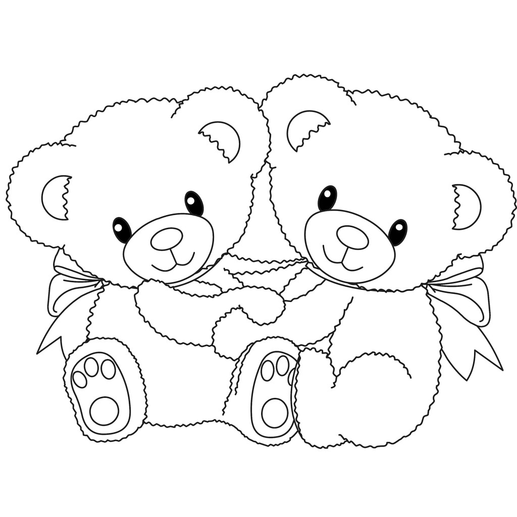 teddy bear cartoon coloring pages - photo#35