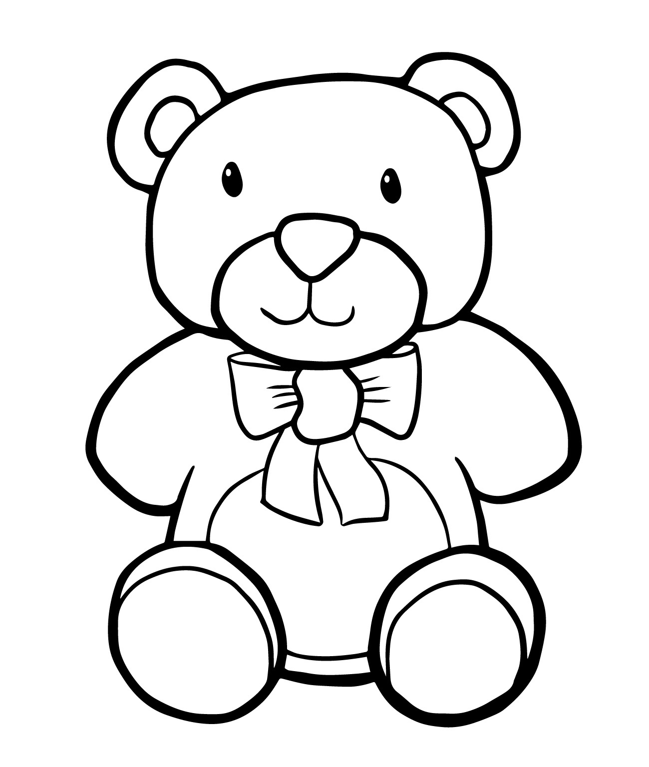 coloring page pages teddy bear - photo#13