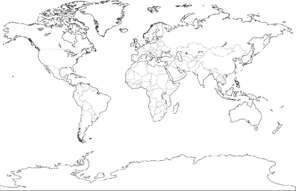 Free Printable Coloring Pages World Map oceans of the world