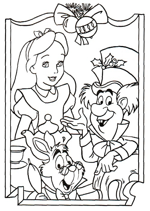 Similiar Princess Alice In Wonderland Garden Coloring Book Pages ...