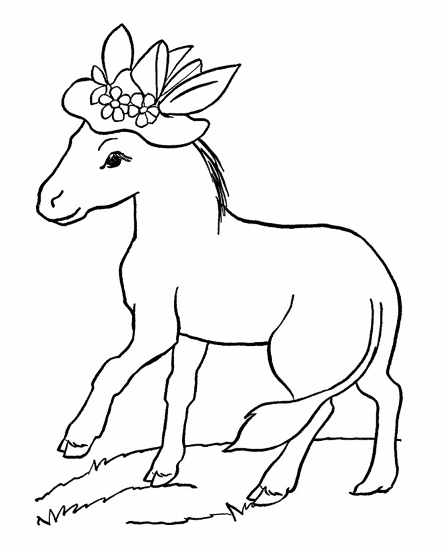 Free Printable Donkey Coloring Pages For Kids Coloring Page For Kid