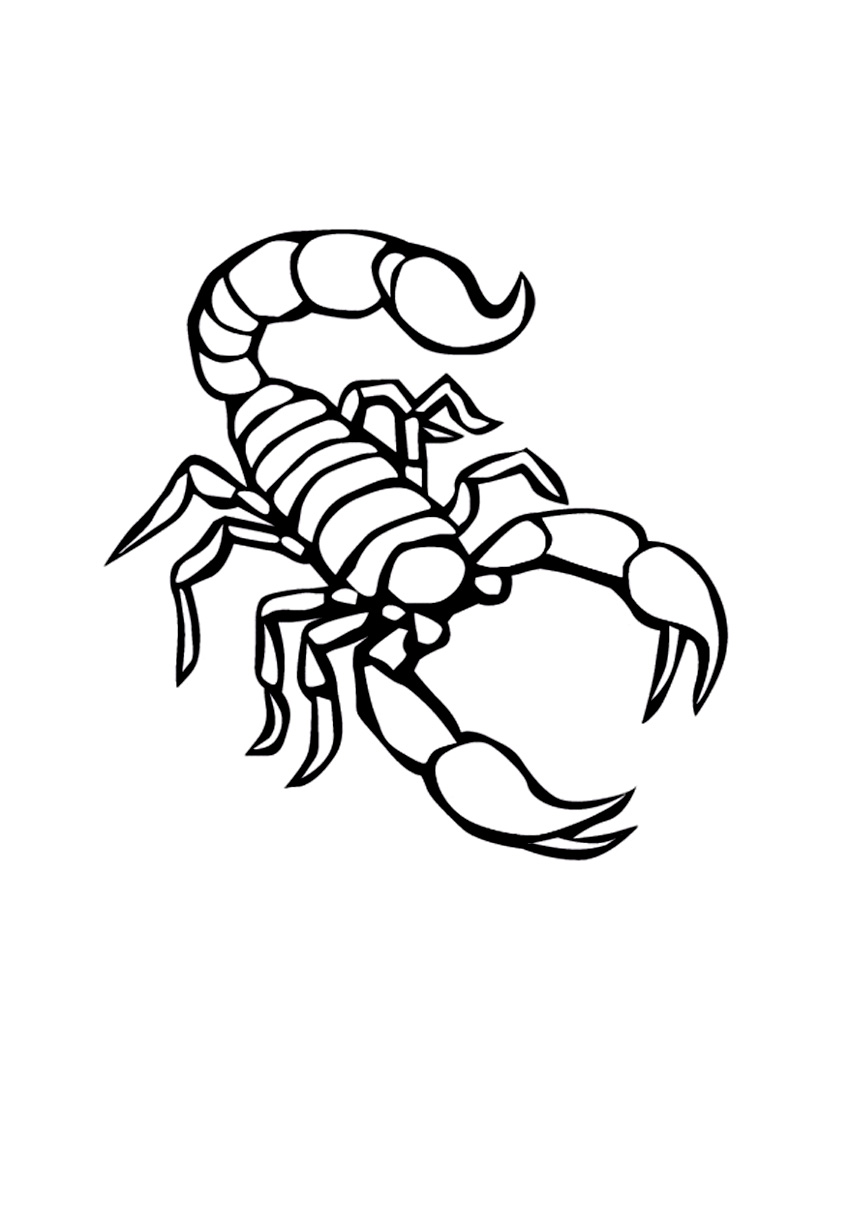 scorpions coloring pages - photo#4