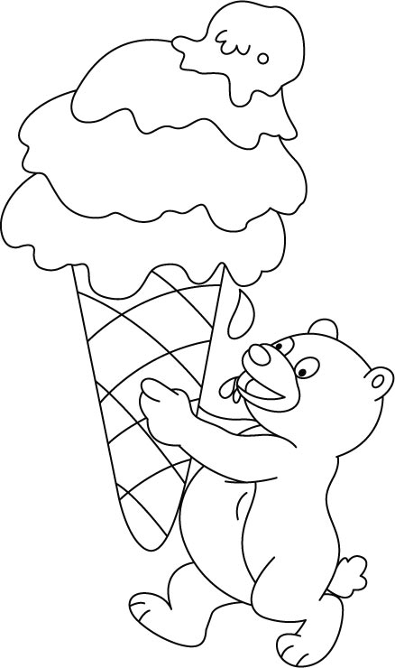 Free Printable Ice Cream Coloring
