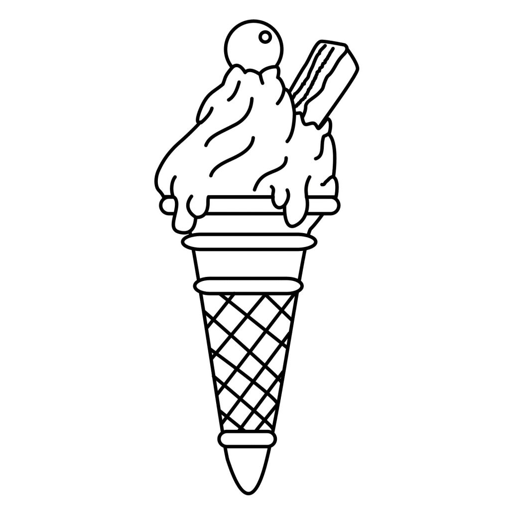 ice cream stand coloring pages - photo#10