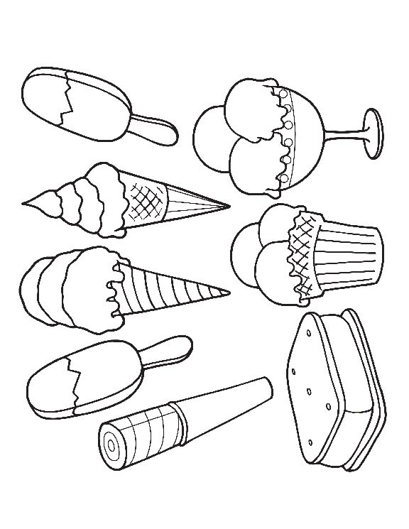 ice cream stand coloring pages - photo#20