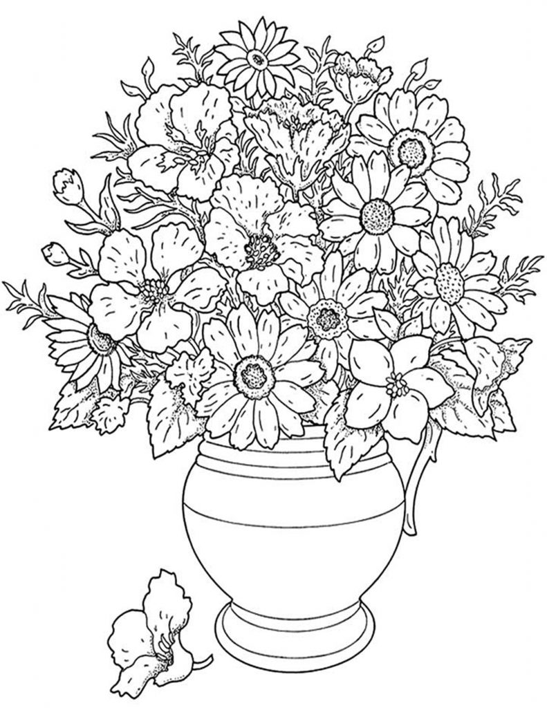 pics of coloring pages flowers - photo#6