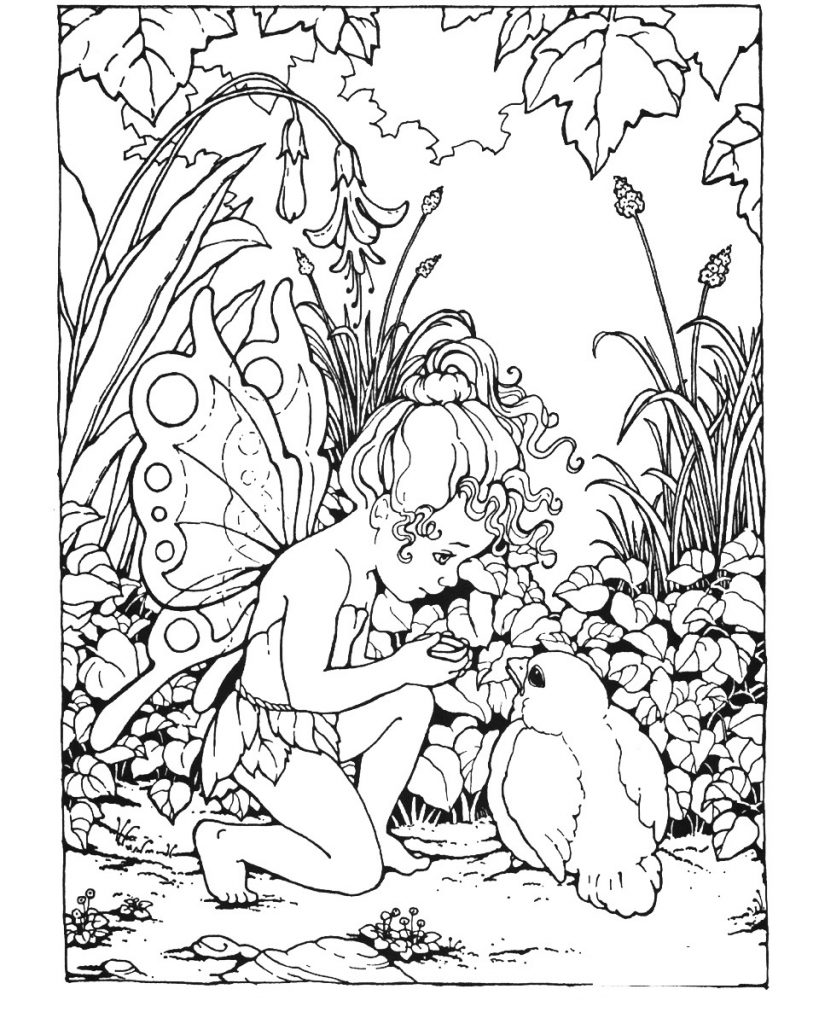 fantasy based coloring book pages - photo#44