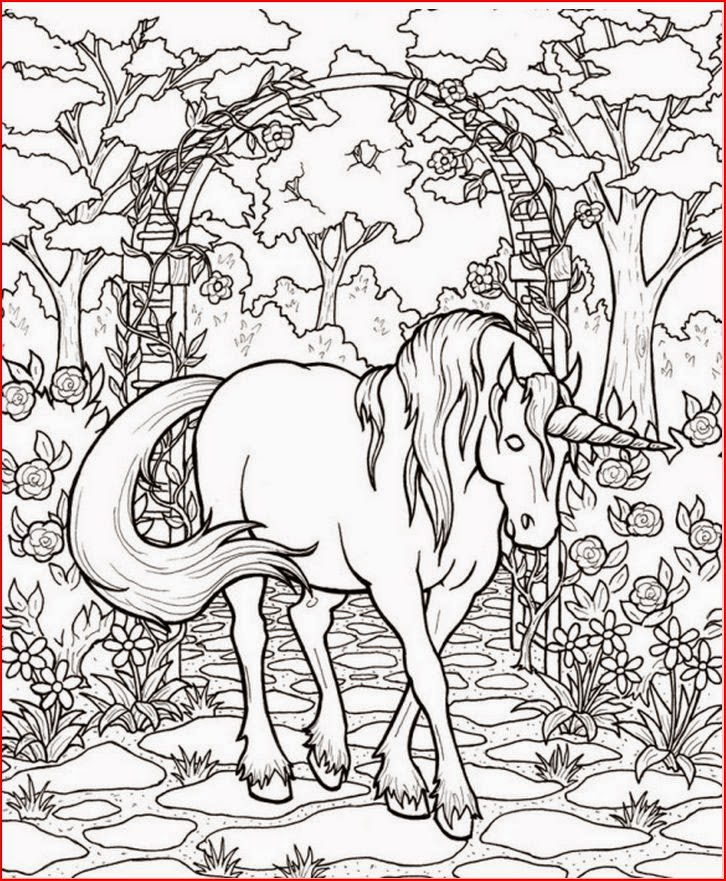 Free Printable Fantasy Coloring