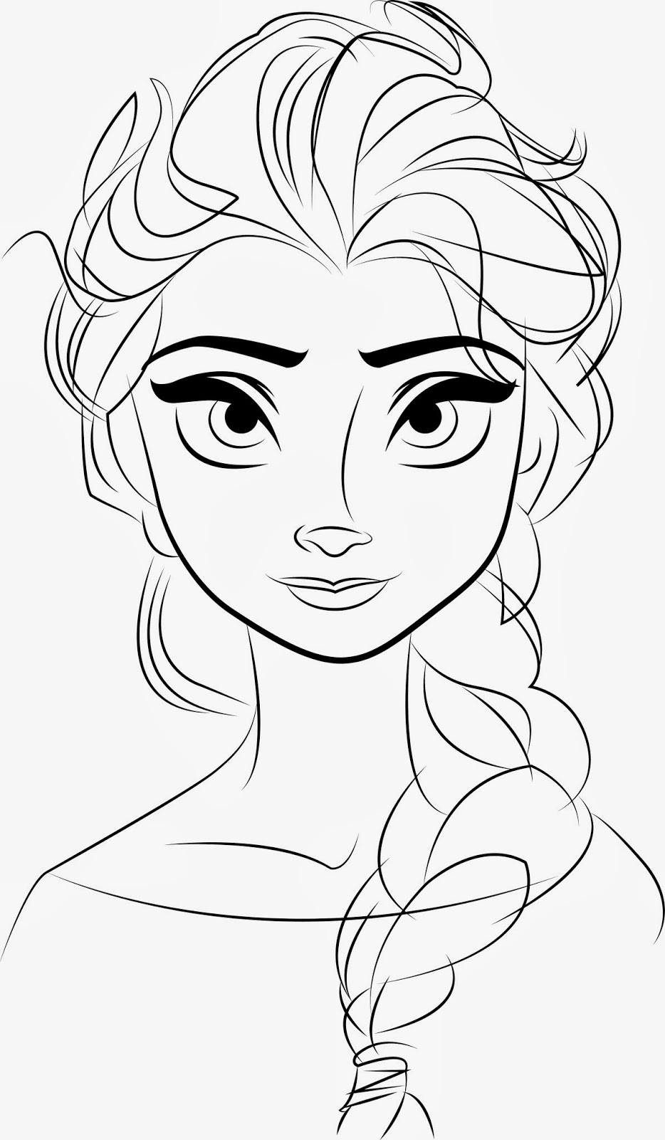 Line Drawing Disney : Free printable elsa coloring pages for kids best
