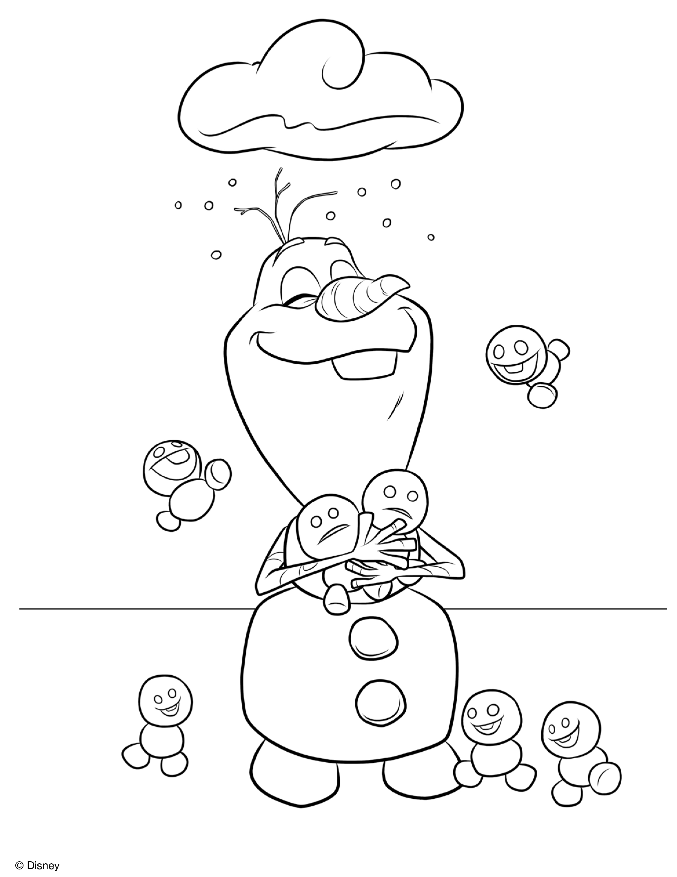 christmas olaf coloring pages - photo#8