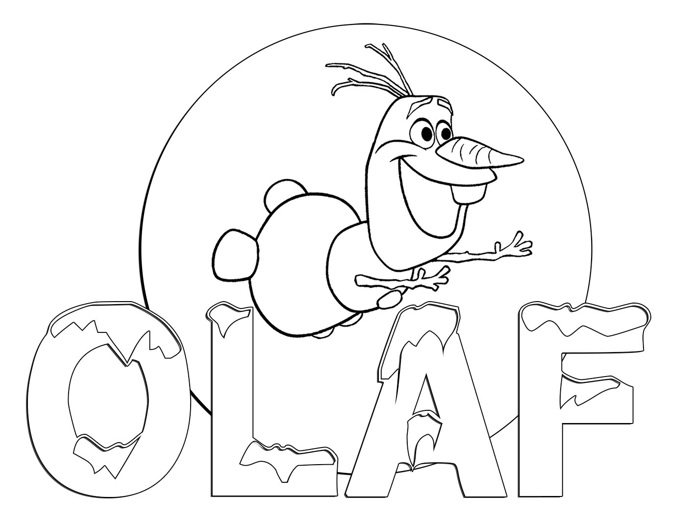 Frozens Olaf Coloring Pages