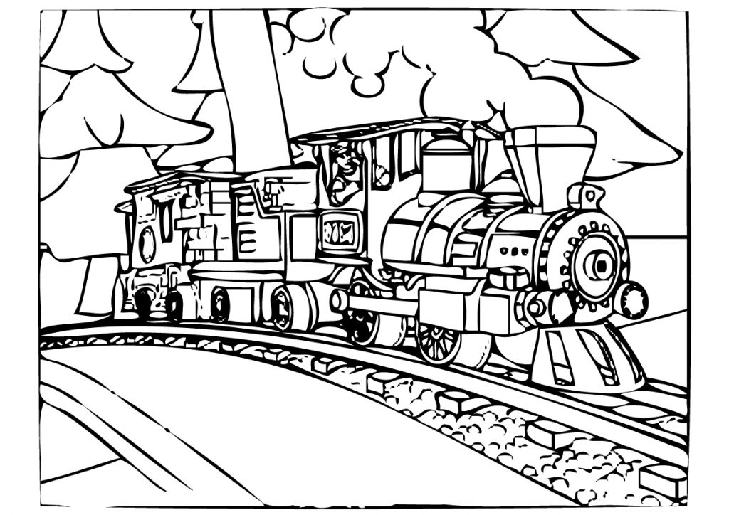 polar express train coloring pages - photo#3