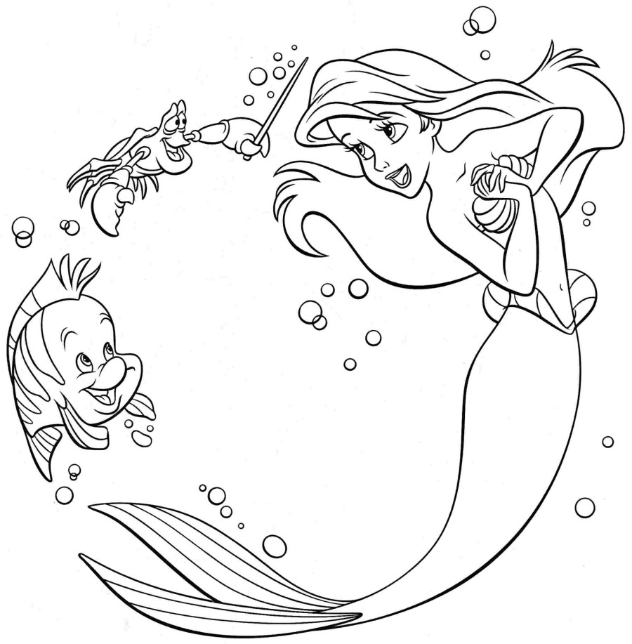 Ariel coloring pages best coloring pages for kids Coloring book mermaid