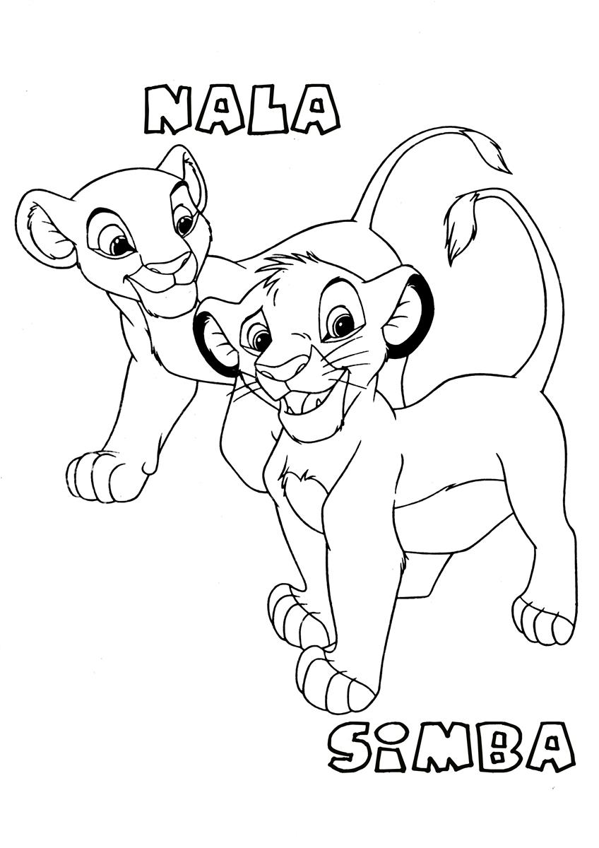 Rafiki Coloring Pages