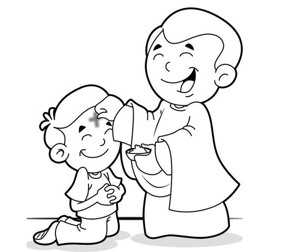 Ash Wednesday Coloring Pages