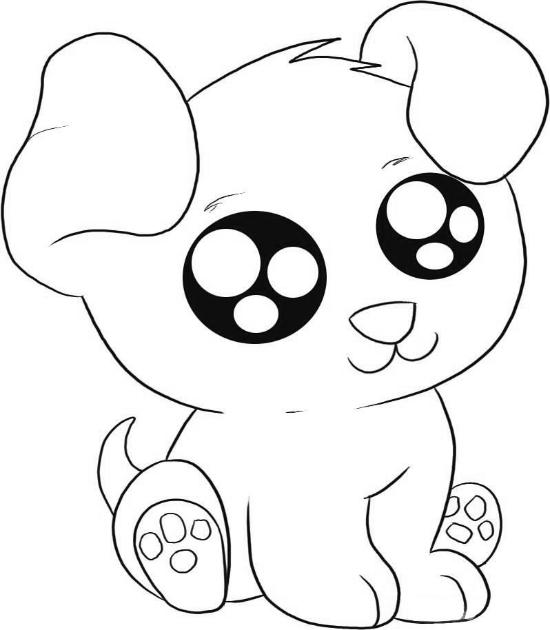 kids puppy printable coloring pages - photo#50