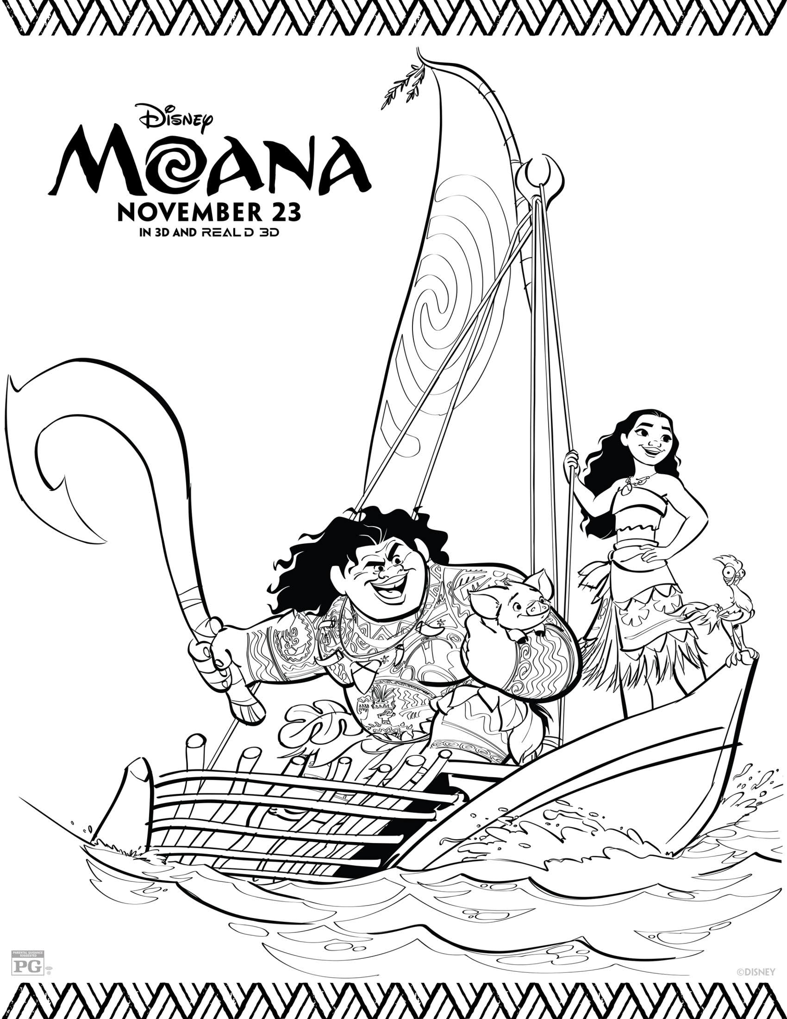 Moana Coloring Pages Best Coloring