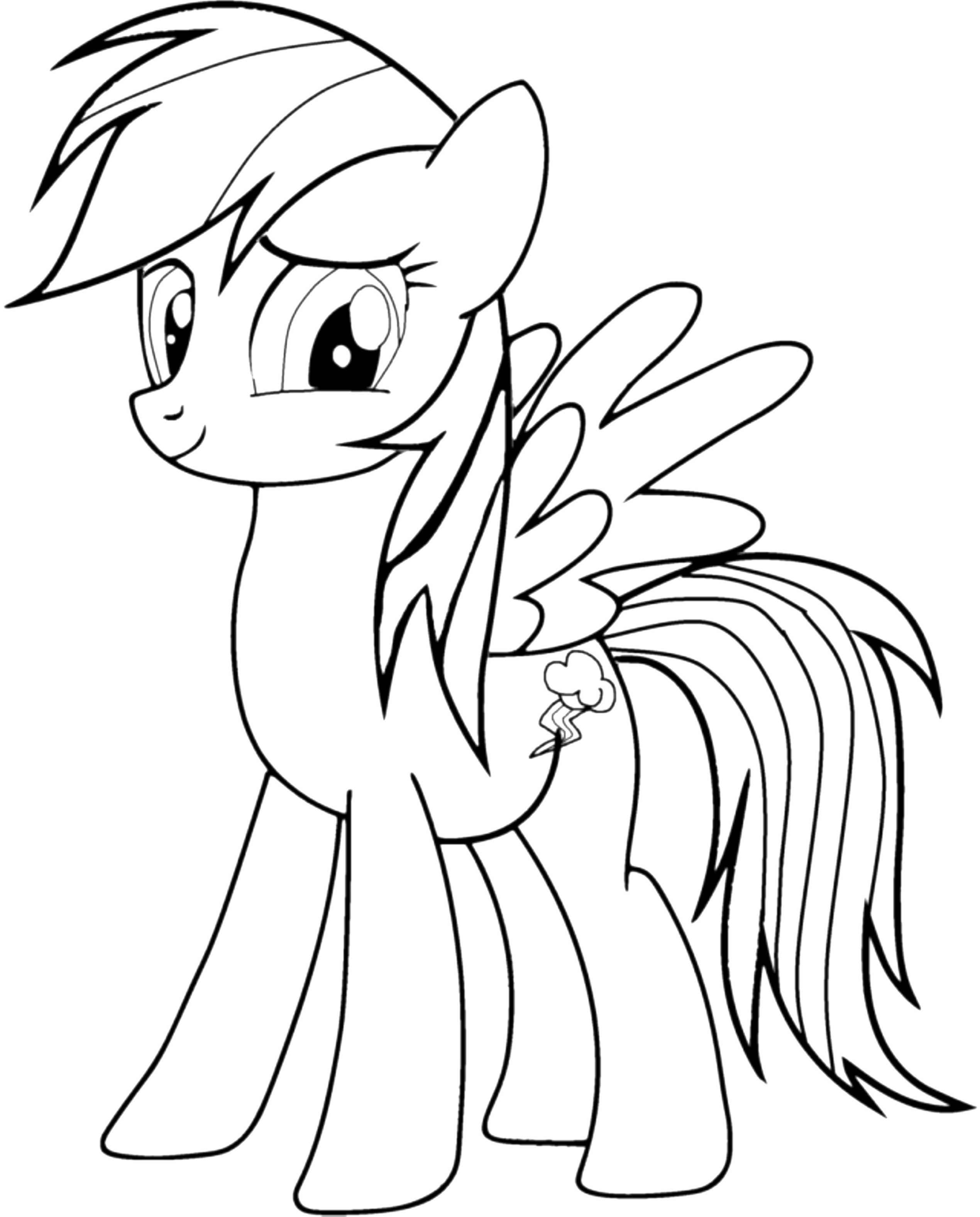 Rainbow dash coloring pages best coloring pages for kids for Fun coloring pages for kids