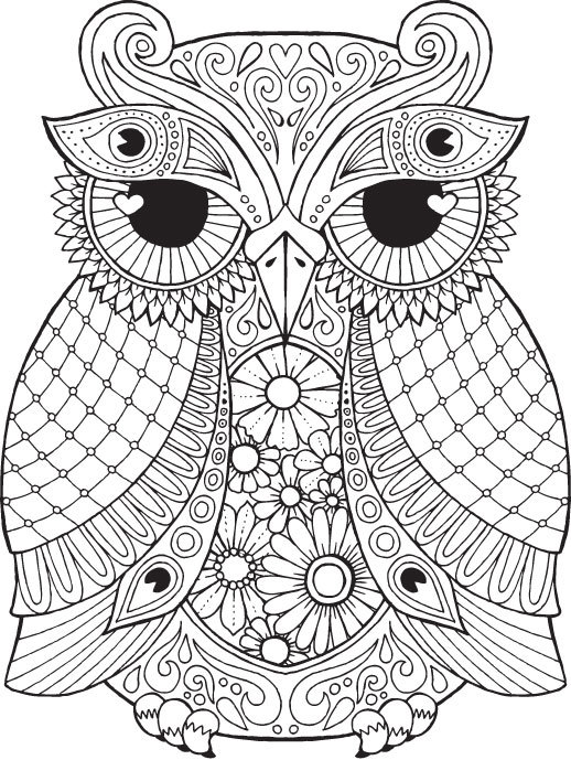 Detailed Coloring Pages Of Owls