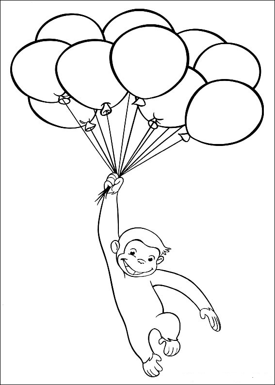 curious george fire coloring pages - photo#39