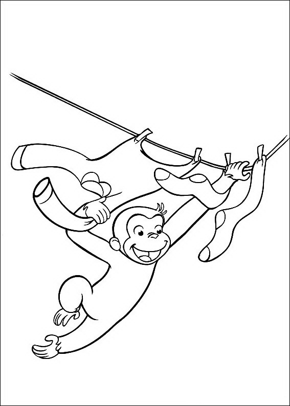 baby clotheline coloring pages | Curious George Coloring Pages - Best Coloring Pages For Kids