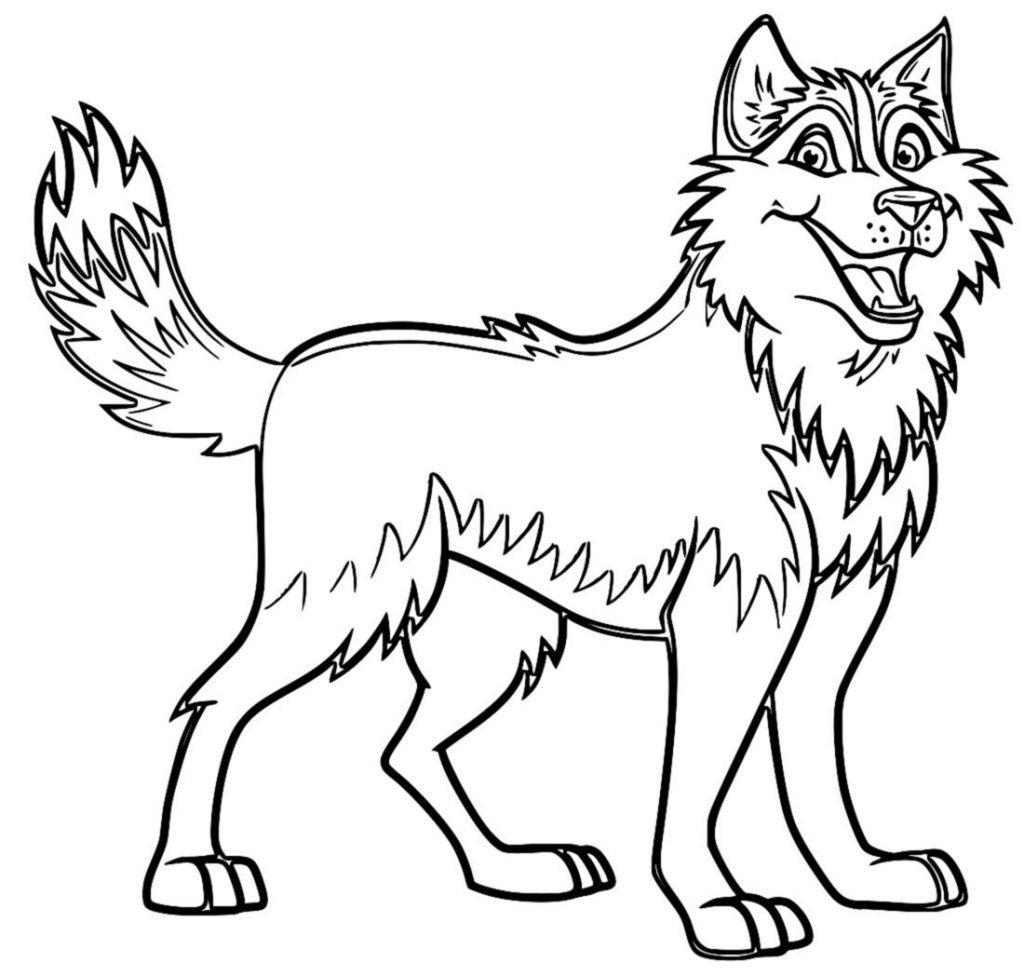 coloring pages huskys - photo#1