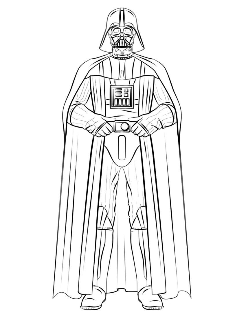 Darth Vader Coloring Pages Best
