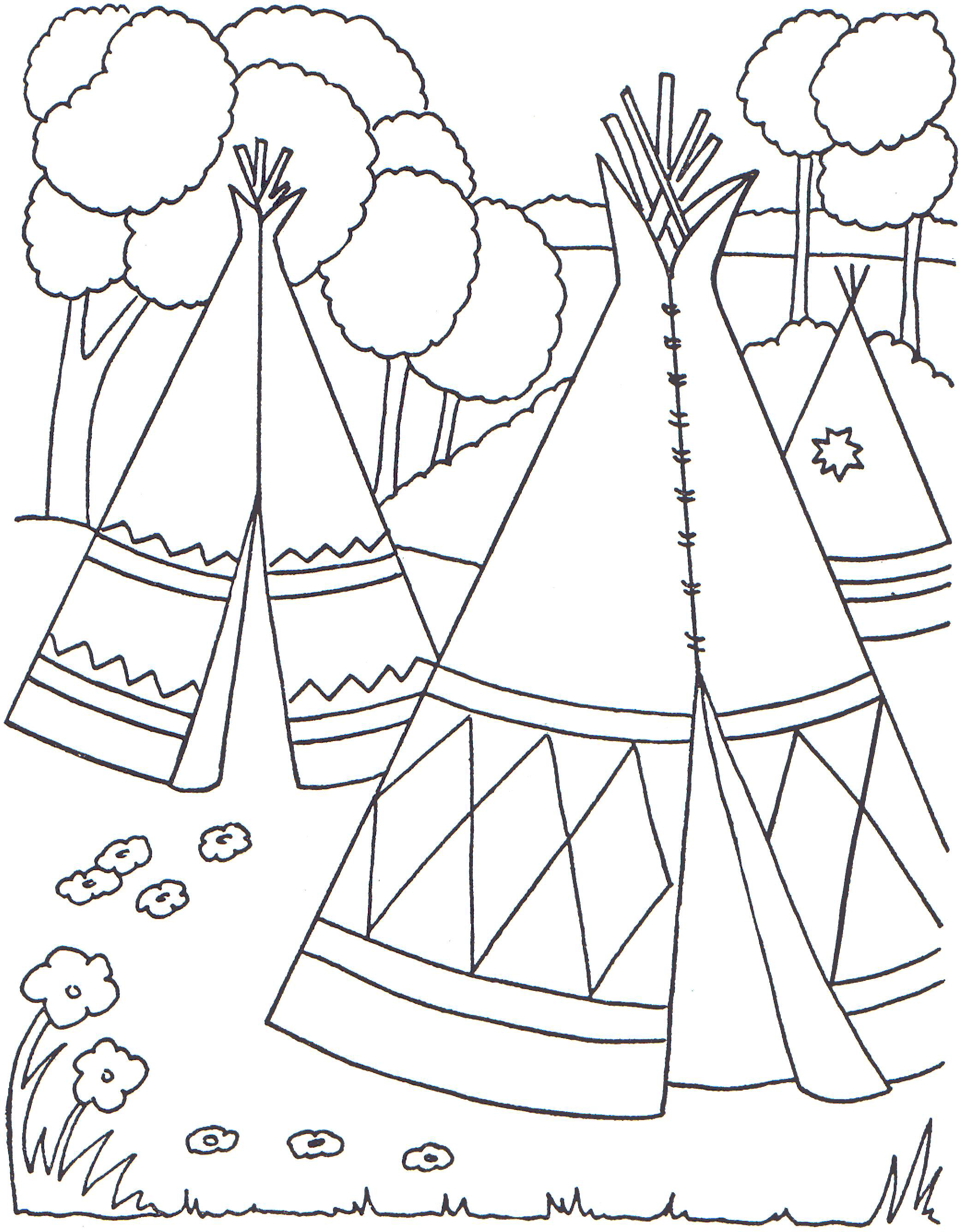 american indian kids coloring pages - photo#12