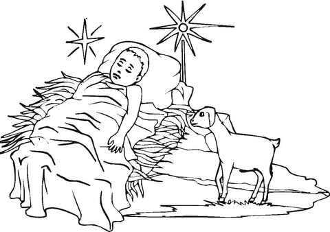 coloring pages for baby jesus - photo#18