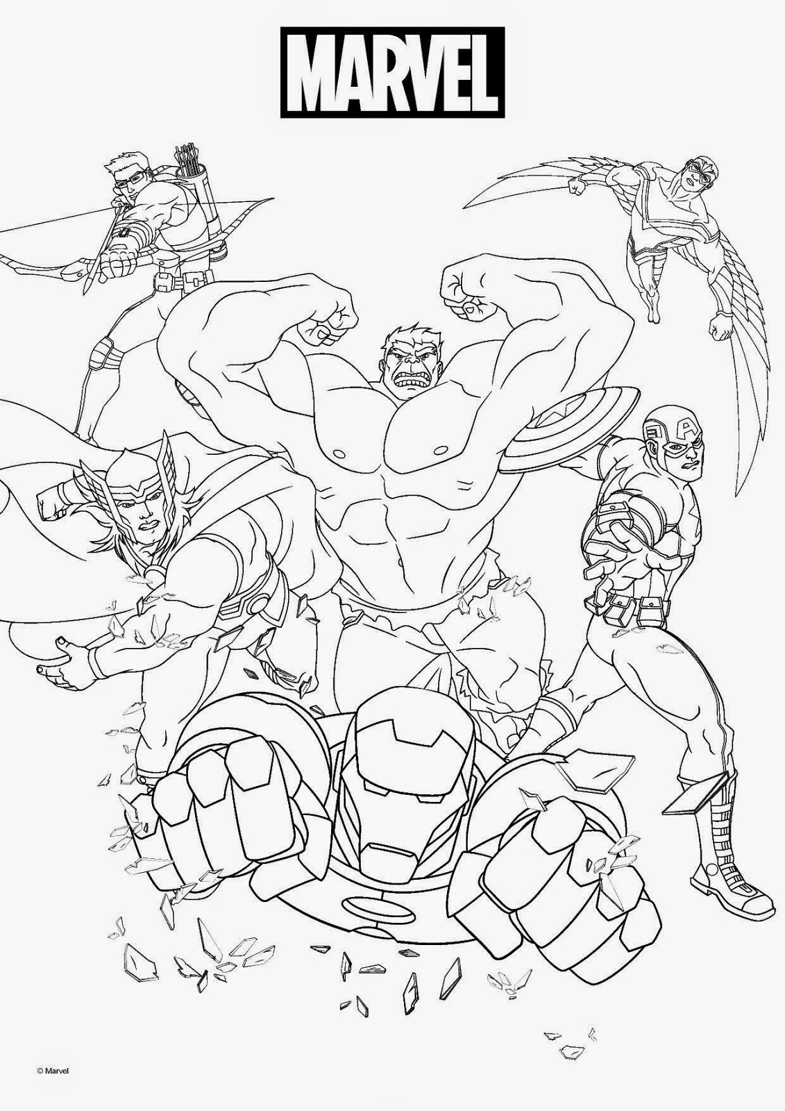 Marvel Coloring Pages - Best Coloring Pages For Kids