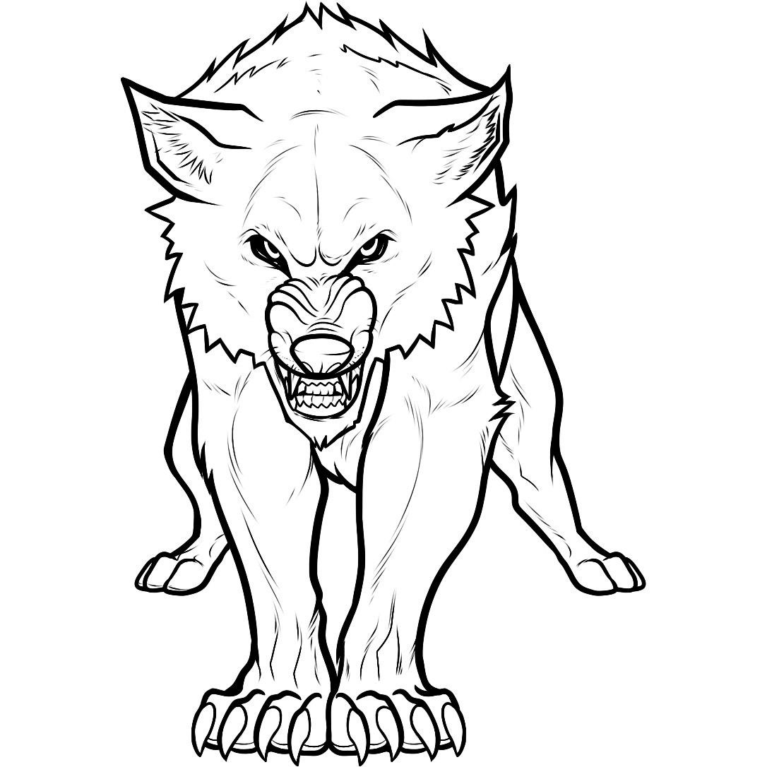 It is an image of Dynamic free wolf coloring pages