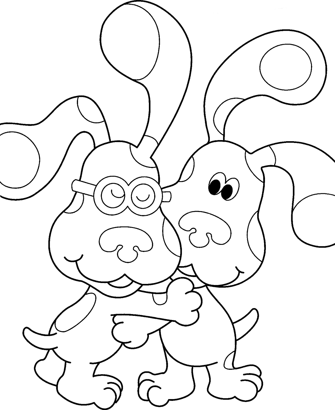 This is a picture of Luscious Blues Clues Coloring Pages
