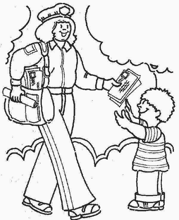 It's just a graphic of Old Fashioned community helpers coloring page
