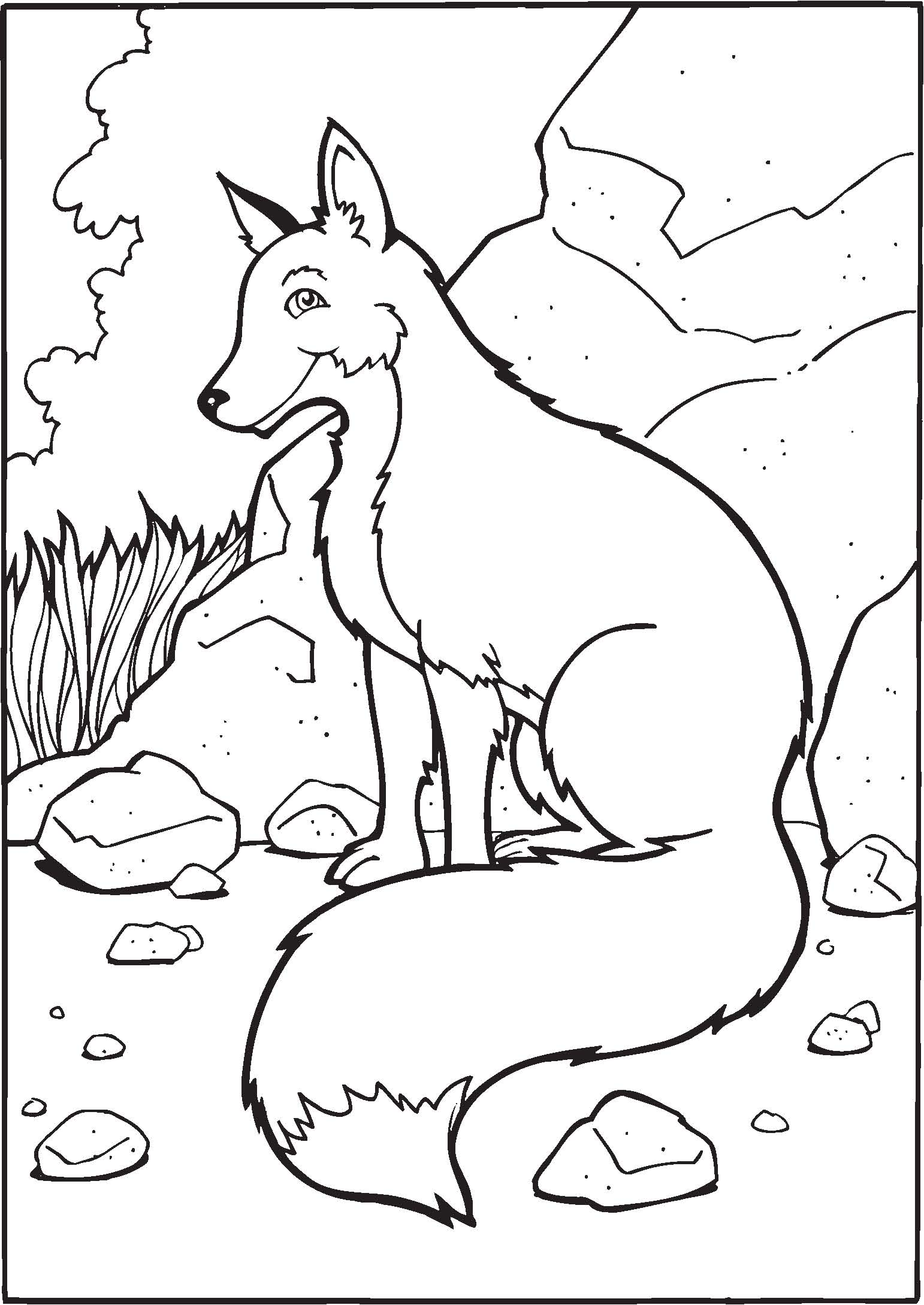 Free Printable Fox Coloring Pages For Kids