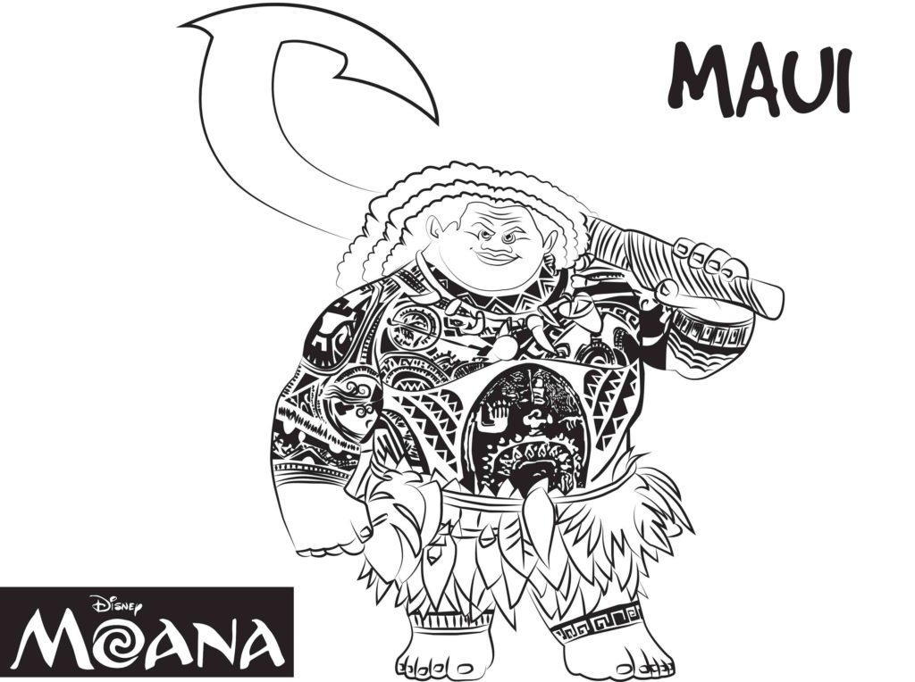 It is an image of Old Fashioned Maui Coloring Pages