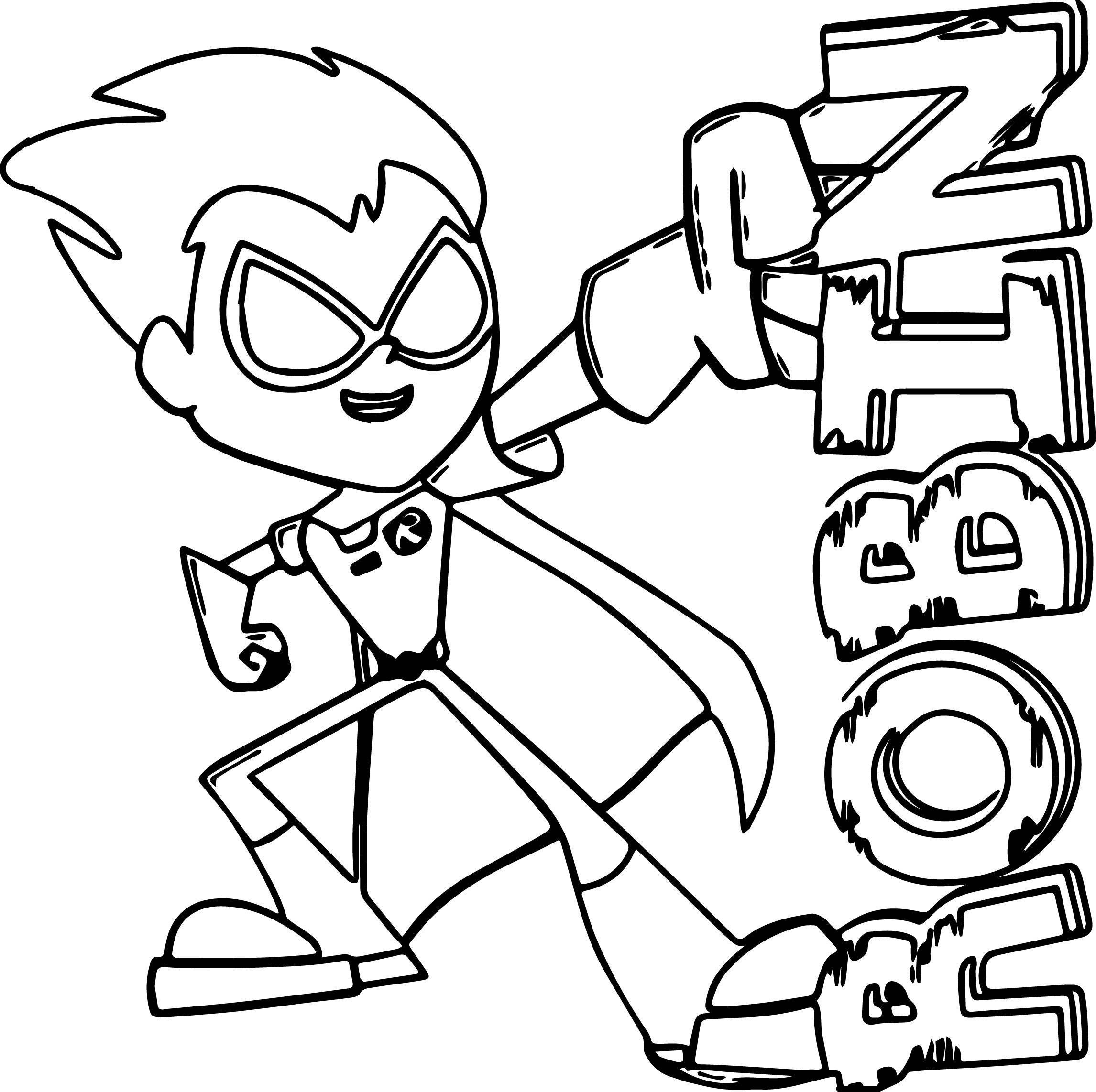 Teen Titans Go Coloring Pages AZ Coloring Pages | Coloring ...