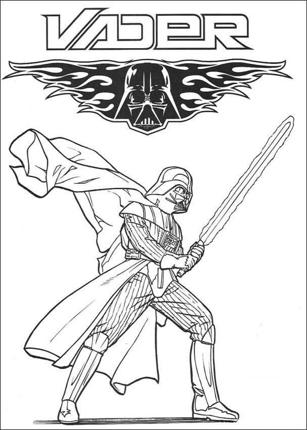 This is an image of Fabulous Darth Vader Coloring